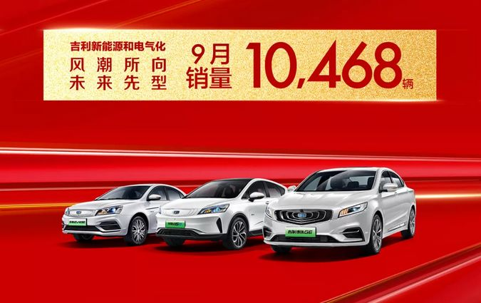 吉利汽车逆势上扬,9月再超12万,已完成全年销量目标72%