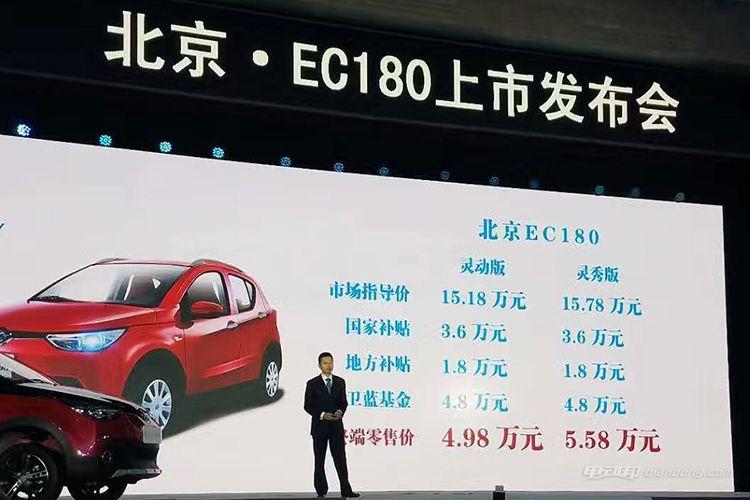 北汽新能源EC180上市 补贴后售价4.98万起-车神网