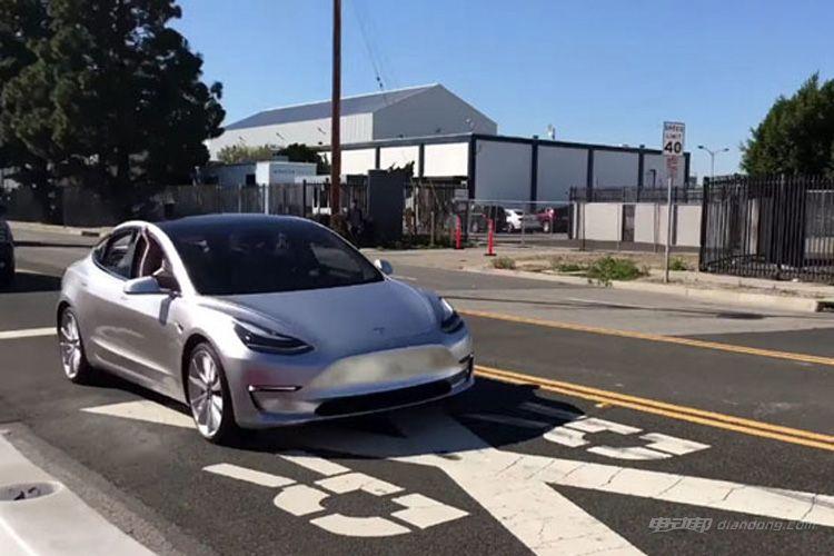 特斯拉Model 3测试谍照曝光 预计七月量产-汽车氪