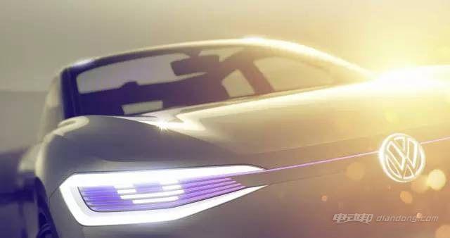 大众I.D.概念车预告图 风骚的纯电动跨界SUV-汽车氪
