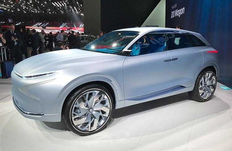 续航800km 现代全新氢燃料电池概念车亮相日内瓦车展-汽车氪