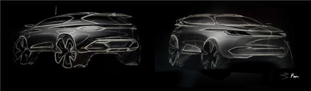 4月13日亮相 奇点全新车型设计图曝光-汽车氪