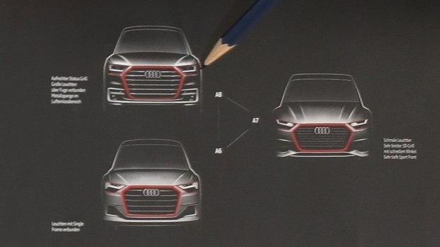 新A8或7月发布 新A6/A7/A8设计图曝光-汽车氪