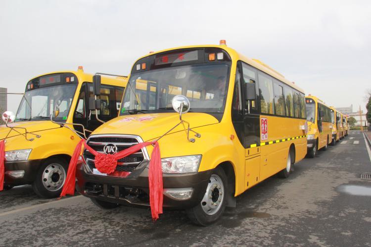 安凯校车批量交付黑山县,高品质护航学童安全出行-汽车氪