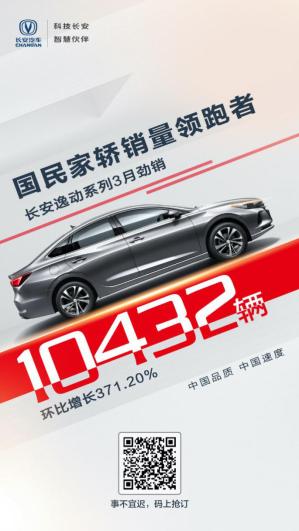 3月销量数据新鲜出炉,长安逸动系列劲销10432辆,凭实力优秀