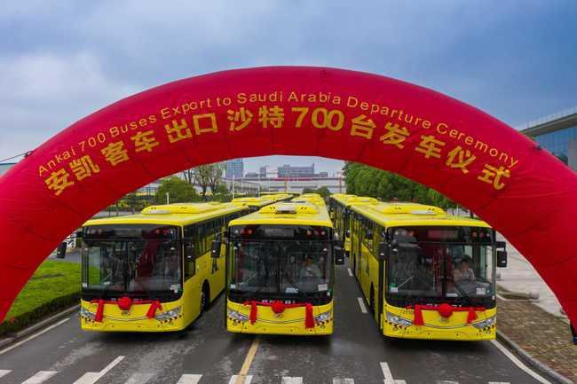 """700辆安凯客车出口沙特,彰显""""中国制造""""魅力-车神网"""