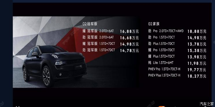 领克多款新车正式上市 最高售价24.88万