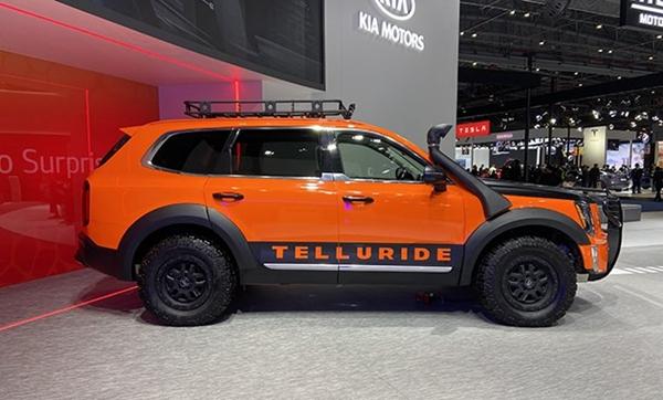 2020进博会:起亚Telluride亮相 定位8座中大型SUV