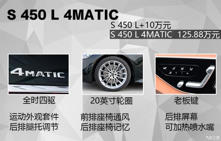 奔驰(进口) 奔驰S级 2021款 S 450 L 4MATIC